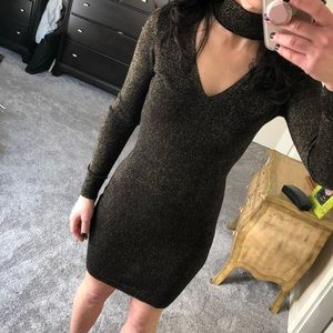 Micheal Kors xs LBD with a touch of gold